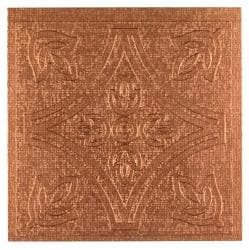 Metallo Wall Copper 4x4 Self Adhesive Vinyl Wall Tile - 27 Tiles/3 sq Ft.