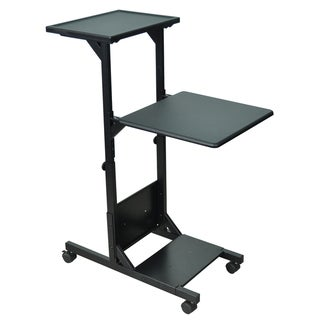 H Wilson Mobile Adjustable Heavy-duty Presentation and Projector Stand