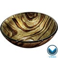 VIGO Zebra Glass Vessel Bathroom Sink
