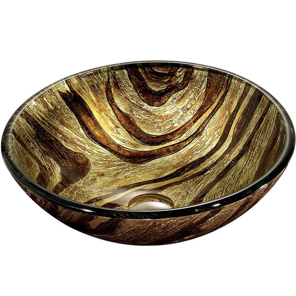 VIGO Zebra Glass Vessel Bathroom Sink