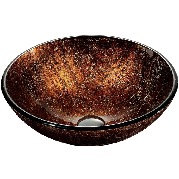 Kenyan Twilight Glass Vessel Bathroom Sink