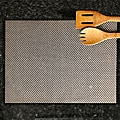 Silver Basketweave Placemats (Set of 6)