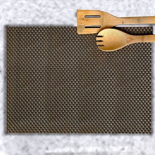 Chocolate Basketweave Placemats (Set of 6)