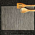 Silver/Black Cambria Placemats (Set of 6)
