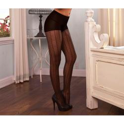 Hustler Women's Black Sexy Jacquard Pantyhose (Set of 2)