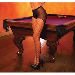 Hustler Black Diamond Net Peek-A-Boo Pantyhose (Set of 2)
