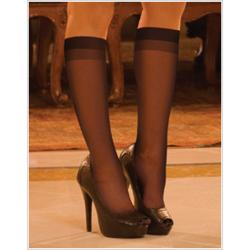 Hustler Women's Sheer Knee Highs (Set of 2)