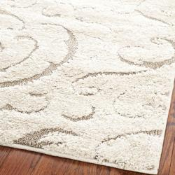 Safavieh Ultimate Cream/ Beige Shag Rug (8'6 x 12')