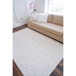 Candice Olson Hand-tufted Ivory Zebra Animal Print Pessac  Wool Rug (5' x 8')