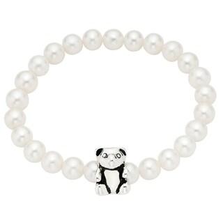 Pearlyta FW Pearl Teddy Bear Charm Baby Bracelet (4-5 mm)