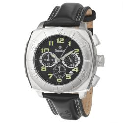 Timberland Men's 'Harvard Square' Stainless Steel and Leather Quartz Chronograph Watch