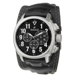 Timberland Men's 'Terrano' Stainless Steel and Leather Quartz Chronograph Watch