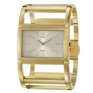 Calvin Klein Women's 'Dress' Yellow Goldplated Stainless Steel Quartz Watch