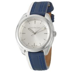 Calvin Klein Jeans Men's 'Impulse' Stainless Steel and Leather Quartz Watch