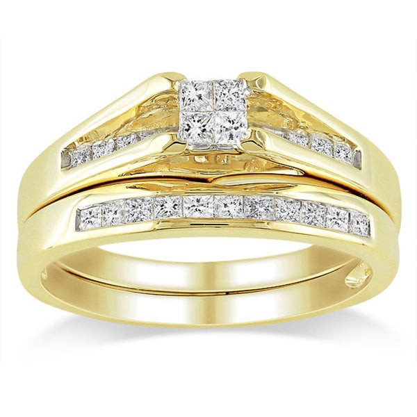 Miadora 14k Yellow Gold 1/2ct TDW Diamond Ring Set (G-H, I1)