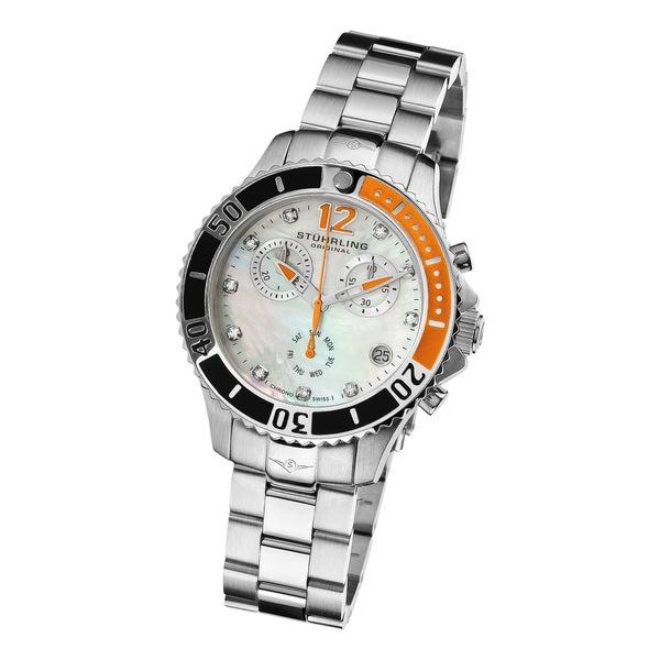 Stuhrling Original Women's Regetta Pearl Quartz Chronograph Watch