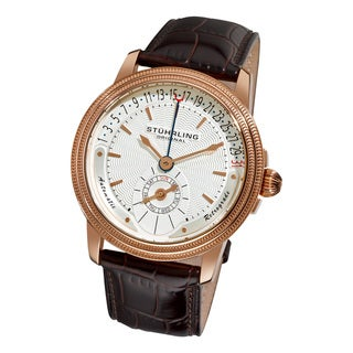 Stuhrling Original Men's Magnate White-Dial Automatic Watch