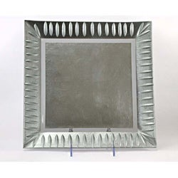 Silver Etched Leaf Square Platter