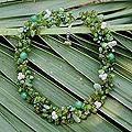 Multi-gemstone Pearl 'Lime Sensation' Necklace (3-4 mm) (Thailand)