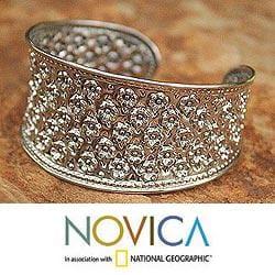 Sterling Silver 'Lanna Splendor' Cuff Bracelet (Thailand)