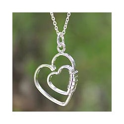 Sterling Silver 'Love Promise' Necklace (Thailand)