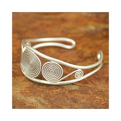 Sterling Silver 'Chiang Mai Magic' Cuff Bracelet (Thailand)