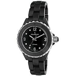 Peugeot Women's Swiss Ceramic Sport Bezel Black Dial Watch