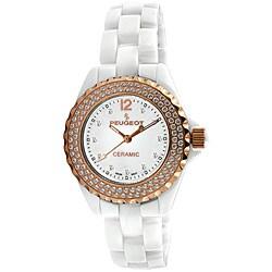 Peugeot Women's Swiss Quartz Ceramic Crystal White-Dial Watch