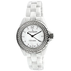 Peugeot Women's Swiss Ceramic Crystal White Dial Watch