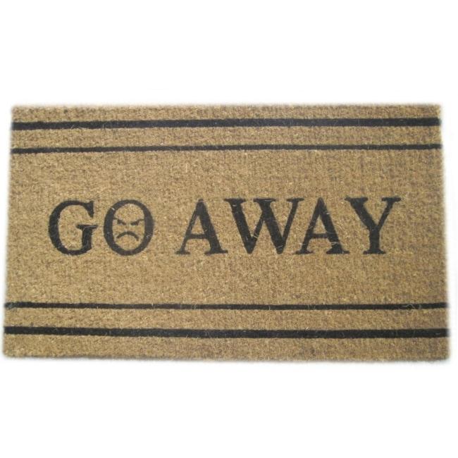 'Go Away' Coir Door Mat