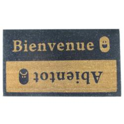 'Beinvenue-Abientot' Coir Door Mat