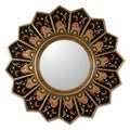 Glass Cedar Wood 'Sunflower Fan' Mirror (Peru)