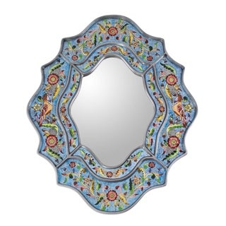 Glass 'Blue Sky' Mirror (Peru)