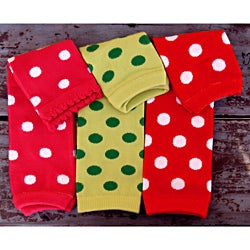 Polka Dot 3-piece Leg Warmer Set
