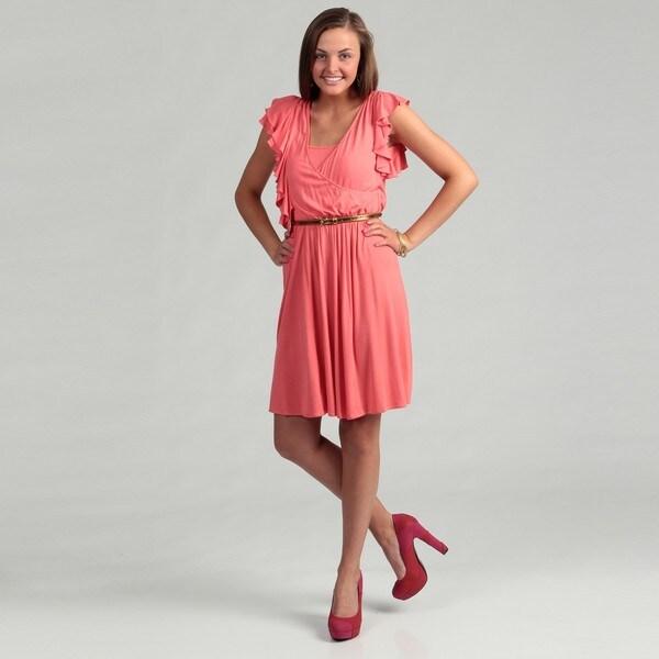 Calvin Klein Women's Wintersun Ruffled Dress