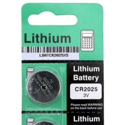 AccStation Lithium Coin Batteries for CR2025/ DL2025 (Pack of 5)