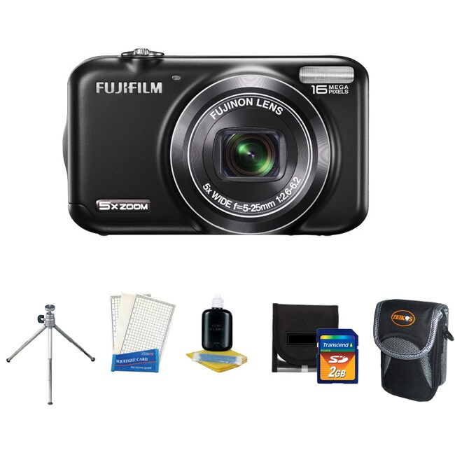 Fujifilm FinePix JX400 16MP Digital Camera with Accessory Kit (Refurbished)