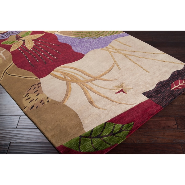 Hand-knotted Chertsey Semi-worsted New Zealand Wool Rug (9' x 13')