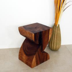 Chestnut Wood 'Zat' End Table (Thailand)
