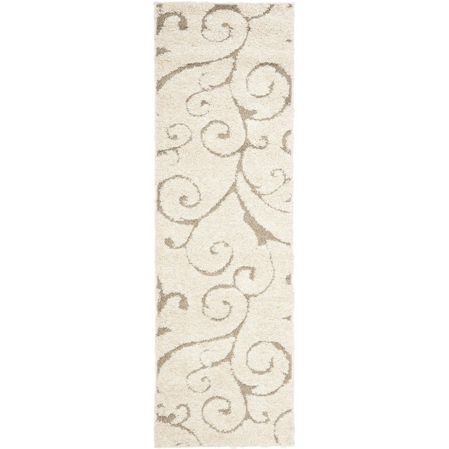 Safavieh Florida Ultimate Shag Cream/ Beige Rug (2'3 x 7')