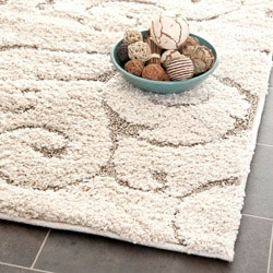 "Ultimate Casual Cream/Beige Shag Rug (3'3"" x 5'3"")"