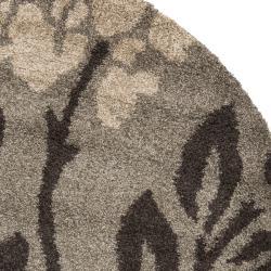 Safavieh Ultimate Smoke/ Dark Brown Shag Rug (6' 7 Round)