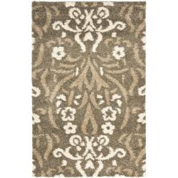 "Safavieh Ultimate Machine-Made Smoke/Beige Shag Rug (3'3"" x 5'3"")"