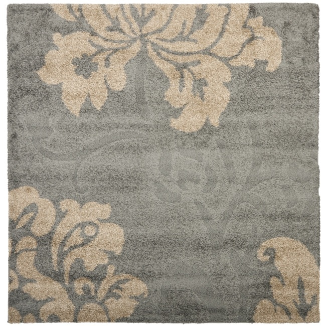 Safavieh Ultimate Dark Grey Beige Shag Rug 6 7 Square