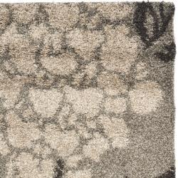 Safavieh Ultimate Smoke/ Dark Brown Shag Rug (3'3 x 5'3)