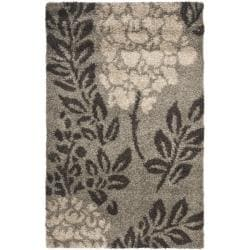 Ultimate Smoke/ Dark Brown Shag Rug (3'3 x 5'3)