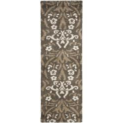 Ultimate Smoke/ Beige Shag Rug (2'3 x 7')