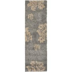 Safavieh Ultimate Dark Grey/ Beige Shag Rug (2'3 x 7')