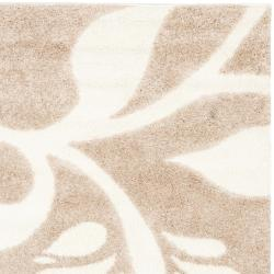 Ultimate Beige/ Cream Shag Rug (6' 7 Square)