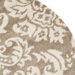 Safavieh Ultimate Beige Shag Area Rug (6' 7 Round)